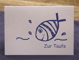 Taufe Karte.Tauffisch Karte Glückwunschkarte Zur Taufe